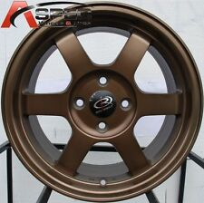 16X7 ROTA GRID WHEELS 4X100 SPORT BRONZE RIMS +40MM (SET OF 4)