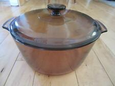 CORNING WARE VISIONS AMBER 5 QT DUTCH OVEN BAKING DISH WITH LID
