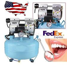 USA 3/4HP Noiseless oil free Oilless Air Compressor 30L For Dental Chair 550W