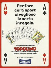 X2726 ZUEGG - Carte Topolino Sport - Pubblicità 1995 - Advertising