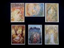 "Six Vintage Unused Sulamith Wulfing German Greeting Post Cards ""The Ring"" Scarce"