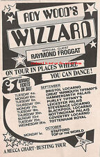 ROY WOOD WIZZARD Tour 1972 UK Press ADVERT 8x6 inches