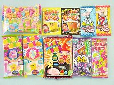 10 PCS SET Japanese Candy Kit Kracie, Meiji  poppin cookin Narunaru gummy