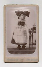 PHOTO CDV Costume traditionnel Tenue Alsacienne HENRI CHARTON Blamont 1900