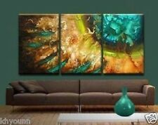 Hand painting 3pc Modern Abstract Huge Canvas Oil Painting (No frame)