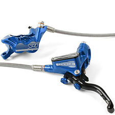 Hope Tech 3 V4 Blue Front & Rear Braided Hose Brake Set w/ Floating Rotors New