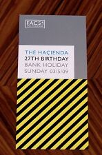 Very Rare 2009 Hacienda Manchester Sankeys Carded Club Flyer FAC51
