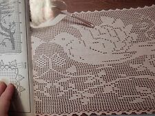 1988 Magic Crochet Doilies Table Covers Butterfly Jacket Baby Boy Sweaters Doves