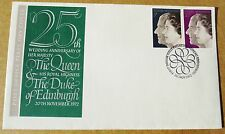 TWO 25th WEDDING ANNIVERSARY BRITISH COVERS FOR QUEEN ELIZABETH/PHILIP, 1972