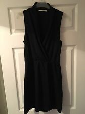 River Island Ladies Size 10 Black Crossover Dress