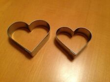 Two Metal Heart Cookie Cutters In Red Chiffon Bag