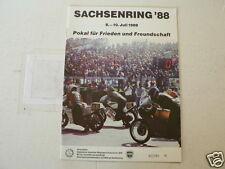 1988 PROGRAMM GROßER PREIS GROSSER SACHSENRING VON DEUTSCHLAND DDR NIKOLOV,KOVAL