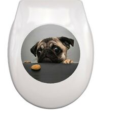 MOPS PUG WC Aufkleber toilet sticker M4 wasserdicht waterproof