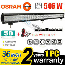 5D 36Inch 546W OSRAM Led Light Bar Combo Offroad Driving Pickup Camper SUV 4WD