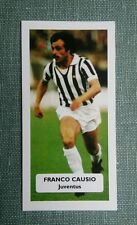 ITALIA... JUVENTUS... FRANCO CAUSIO-punteggio UK FOOTBALL TRADE card