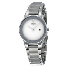 Citizen Axiom Silver Dial Stainless Steel Quartz Ladies Watch GA1050-51A