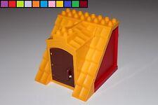 Lego Duplo - Dach mit Tür - Bauernhof - Scheune - Gebäude - rot orange braun