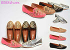 Women's Fashion Rock Studded Loafer Flats Heel Sandal Shoes NEW All Size 4 Color