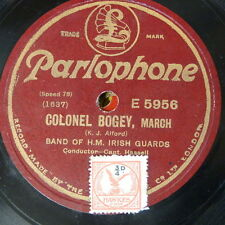 78rpm H M IRISH GUARDS colonel bogey / desert song march