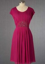 Brand New Boden Jewelled Georgette Dress UK 18 L EU 44  US 14 Magenta Pink