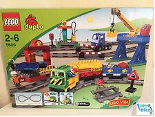 LEGO Duplo Ville Eisenbahn - Super Set 5609 - E-Lok, Anhänger, Bahnhof + Ovp!