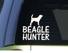 Beagle hunter *H902* 6 inch Sticker decal rabbit hunting dog box