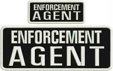 ENFORCEMENT AGENT embroidery patches 4x10 and 2x5 hook on back
