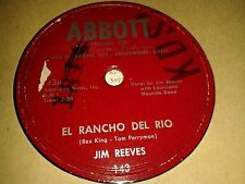 JIM REEVES: EL RANCHO DEL RIO  /  IT'S HARD TO LOVE JUST ONE.  US.78rpm (1953)