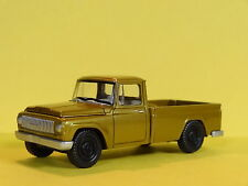 1965 INTERNATIONAL 1200 PICKUP TRUCK BROWN 1/64 LIMITED EDITION REAL RUBBER P