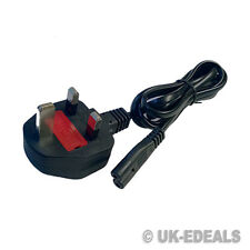 Laptop F8 Figura 8 Cable De Red Para Laptop Cargador Monitor De Tv Dvd Ps2 Ps3 Reino Unido