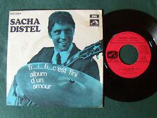 """SACHA DISTEL : fi i fi c'est fini / album d'un amour 7"""" 45T 1969 EMI 2C006 10505"""
