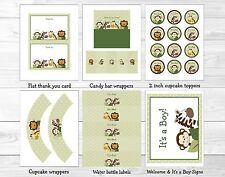Jungle Friends Animal Safari Printable Baby Shower Party Package