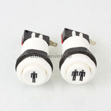 HAPP Style One player + Two Player Start Buttons For Arcade Joystick MAME JAMMA
