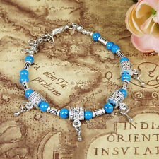 New HOT Free shipping Tibet silver multicolor jade turquoise bead bracelet S56