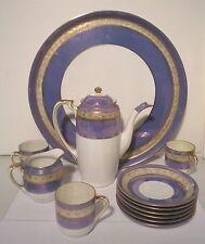 Service à café en porcelaine R.C Japan , Décoré à l'or, Tasses nacrées