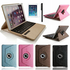 360° Swivel Leather Case Cover &Removable Bluetooth Keyboard For iPad MINI 3 2 1