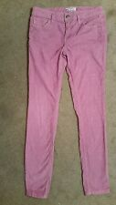 FREE PEOPLE Skinny Stretch Cord Corduroy Pants Pink- Rose Size 28 x 31