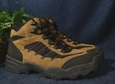Rugged Brown Suede Leather Black Fabric WRANGLER HERO ELKHORN Hiking Boots US 13