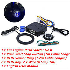 Engine Push Start Button RFID Lock Ignition Starter Keyless Entry Alarm System