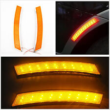 2 x Car SUV Wheel Eyebrow Side Marker Turn Signal Indicator Yellow 18 LED Light