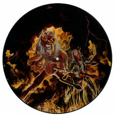 "EX! Iron Maiden HALLOWED BE THY NAME 12"" VINYL Picture Pic Disc + backing card!"
