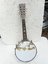 "VINTAGE BANJO MANDOLIN, 1920'S, FANCY INLAYS, 8"" METAL POT, PROJECT ""AS IS"""