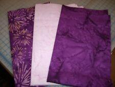 Batik Stashbuilder Set 357 - Three Anthology Purple Tone Fat Quarters