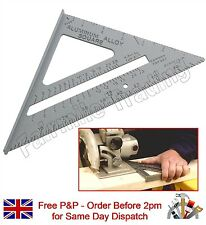 "6"" Aluminium Alloy Roofing Rafter Speed Square Triangle Angle Guide Joinery Roof"