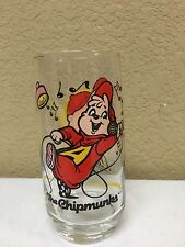 1985 Vintage Alvin and the Chipmunks glass Bagdasarian Hardee's promo Alvin