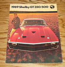 1969 Ford Mustang Shelby GT 350 500 Sales Brochure 69