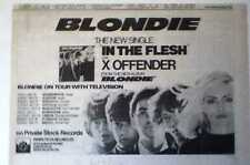 BLONDIE Debbie Harry In The Flesh and Tour 1978 UK Press ADVERT 12 x 8""