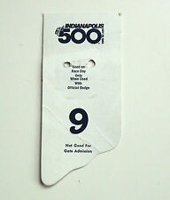 1983 Indianapolis 500 Back Up Card # 9 for Pit Badge Credential Indy 500 Backup