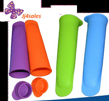 4 Pcs Silicone Push Up Ice Cream Jelly Lolly Pop Popsicle Maker Mould Mold