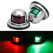 1Pair Stainless Steel Marine Boat Yacht Light 12V LED Bow Navigation Lights